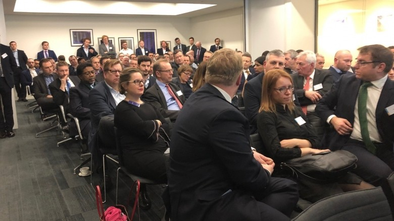 Standing room only at the TMA January 2019 event